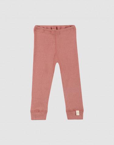 Legging en laine mérinos pour bébé rose