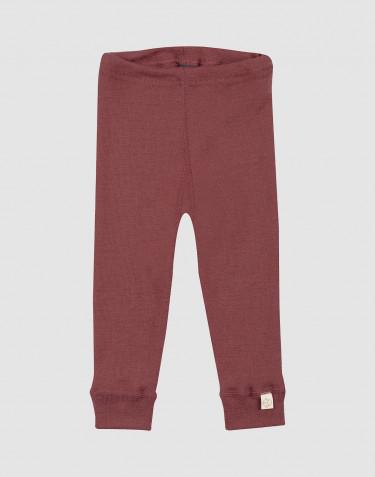 Legging pour bébé en laine mérinos Rouge