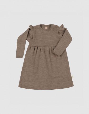 Robe en laine mérinos à volants pour bébé