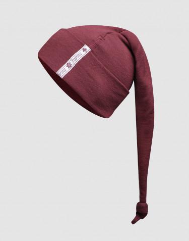 Bonnet de Noël pour bébé - laine mérinos bio rouge noël