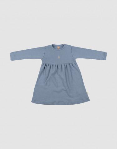 Robe en laine mérinos pour bébé bleu