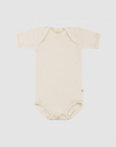 Body pour bébé à manches courtes en laine mérinos bio Naturel