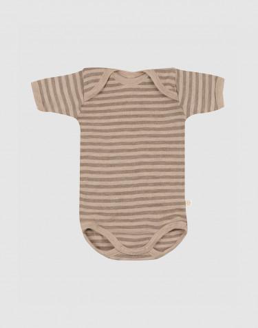 Body à manches courtes en laine mérinos pour bébé