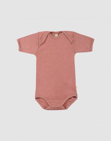 Body à manches courtes en laine pour bébé rose