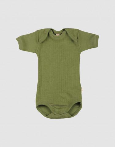 Body à manches courtes pour bébé en laine mérinos