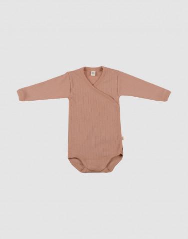Body croisé pour bébé en laine mérinos Rose poudré
