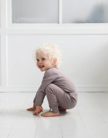 Body à manches longues en laine mérinos pour bébé