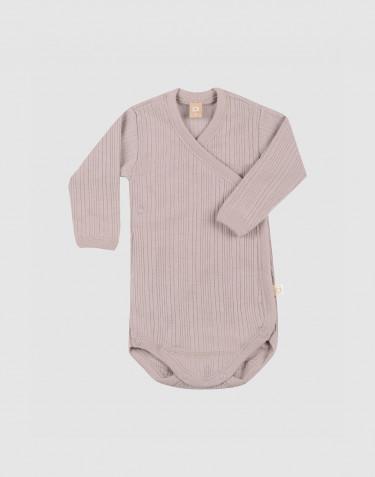 Body croisé en laine mérinos pour bébé