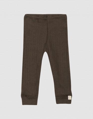 Legging en laine côtelée pour bébé chocolat noir