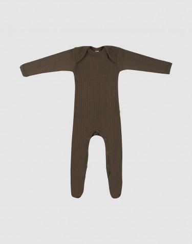Combinaison avec pied pour bébé chocolat noir