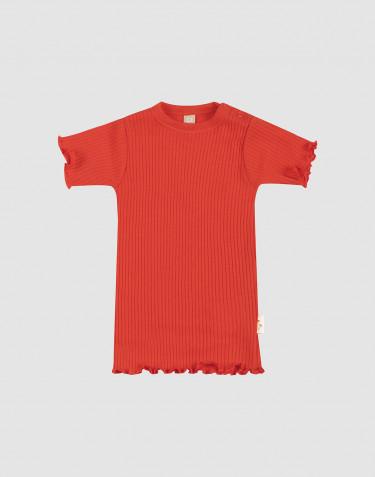 T-shirt à volants pour bébé en laine mérinos