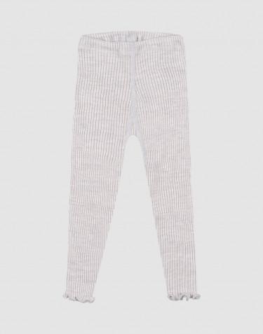 Legging avec bords volantés en laine mérinos pour bébé