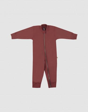 Combinaison pour bébé, en tissu éponge pure laine Rouge