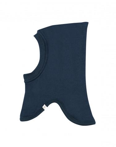 Cagoule pour bébé en tissu éponge pure laine Bleu pétrole