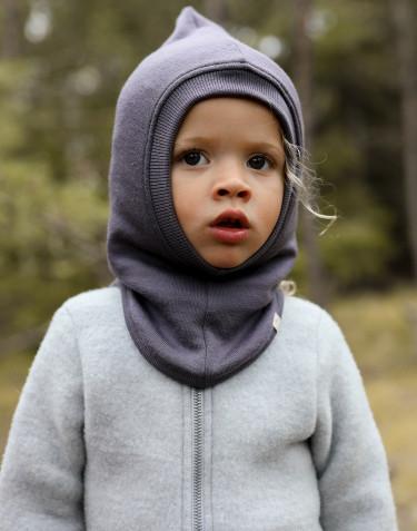 Cagoule en tissu éponge de laine pour bébé