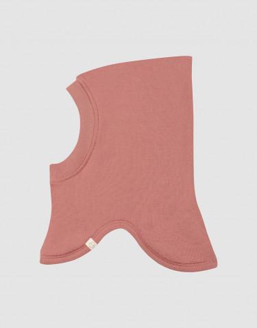 Cagoule pour bébé en tissu éponge de laine rose foncé