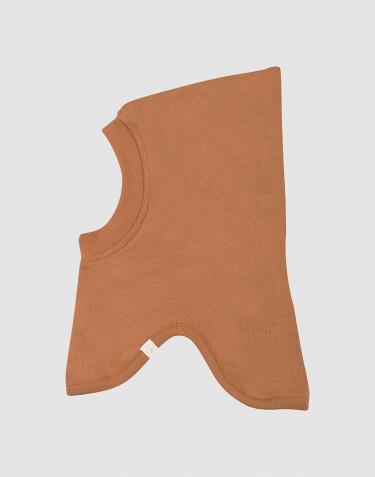 Cagoule en tissu éponge de laine pour bébé caramel