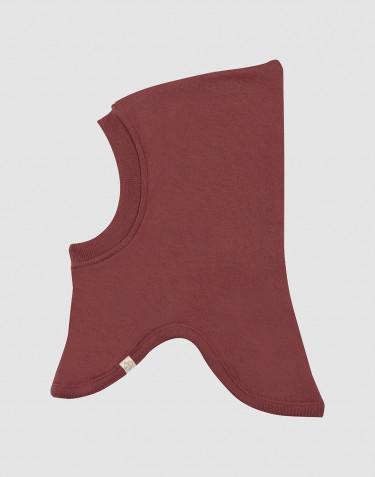 Cagoule pour bébé en tissu éponge pure laine Rouge