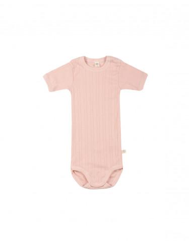 Body pour bébé à manches courtes en coton bio Rose