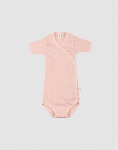 Body croisé pour bébé en coton bio Rose