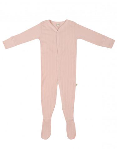 Combinaison avec pied pour bébé en coton Rose