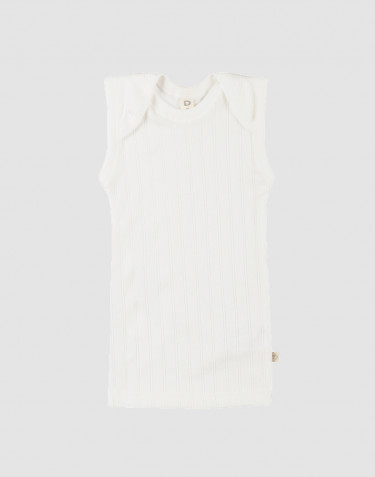 Sous-vêtement pour bébé en coton bio Blanc
