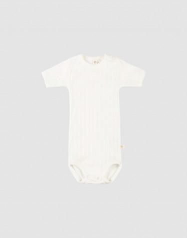 Body pour bébé à manches courtes en coton bio Blanc