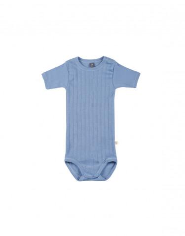 Body pour bébé à manches courtes en coton bio Bleu