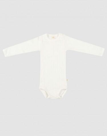 Body pour bébé à manches longues en coton bio Blanc