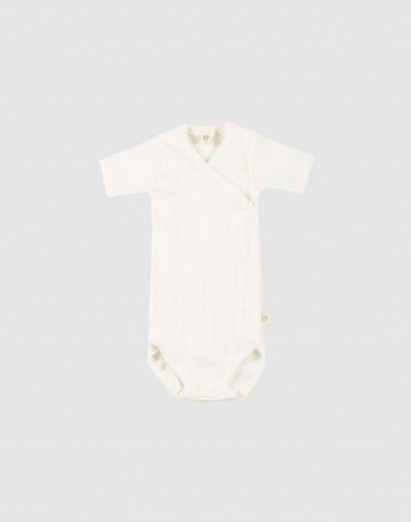 Body croisé pour bébé en coton bio Blanc