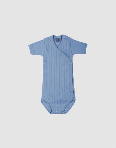 Body croisé pour bébé en coton bio Bleu