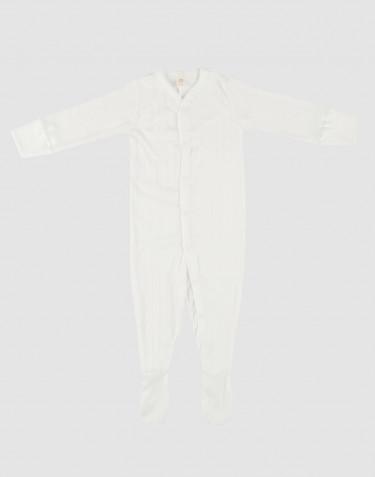 Combinaison avec pied pour bébé en coton Blanc