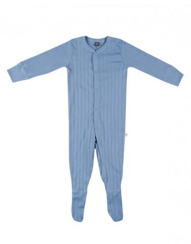 Combinaison avec pied pour bébé en coton Bleu