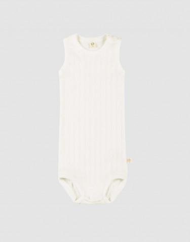 Body débardeur pour bébé en coton bio Blanc