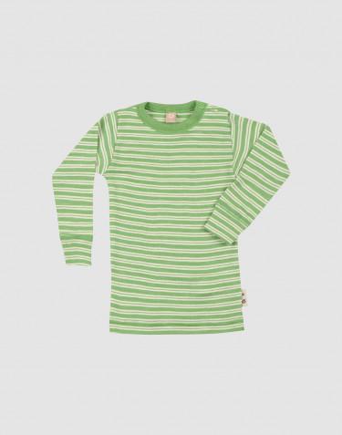 T-shirt à manches longues en laine mérinos et soie pour bébé