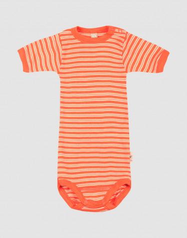 Body à manches courtes en laine mérinos et soie pour bébé