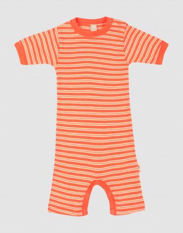 Body barboteuse en laine mérinos et soie pour bébé