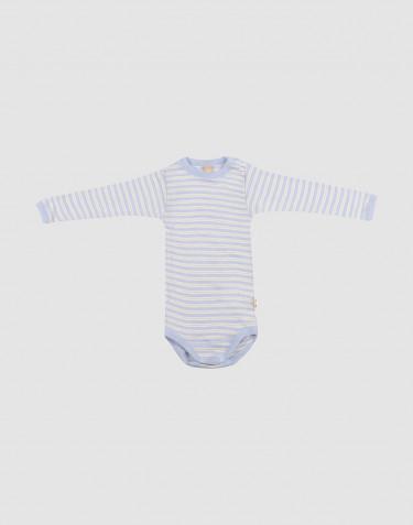 Body à manches longues pour bébé en laine mérinos et soie
