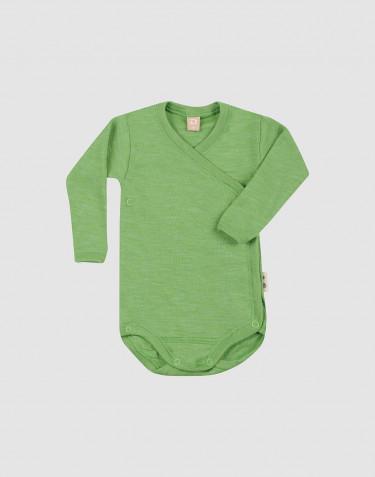 Body croisé pour bébé en laine mérinos et soie