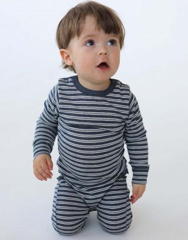 Combinaison pour bébé en laine mérinos et soie