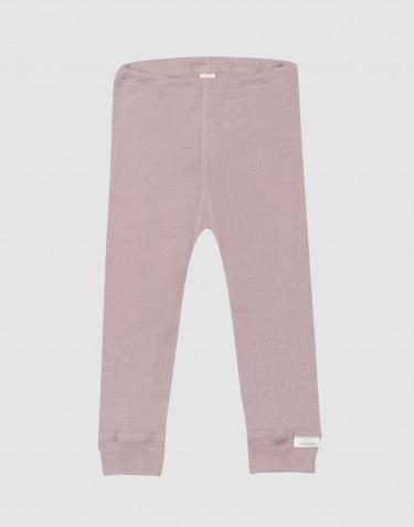 Legging pour bébé en laine bio et soie rose pastel