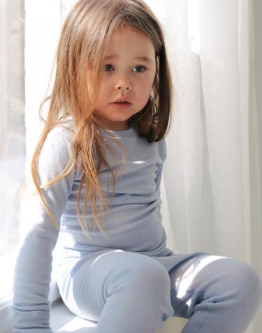 Legging pour bébé en laine mérinos et soie