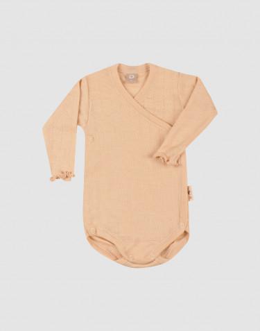 Body maille pointelle en laine mérinos et soie pour bébé