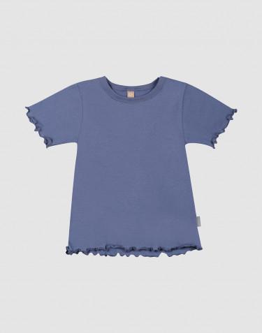T-shirt à bords volantés en coton bio pour enfant