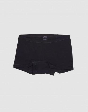 Boxer pour fille, en coton Noir