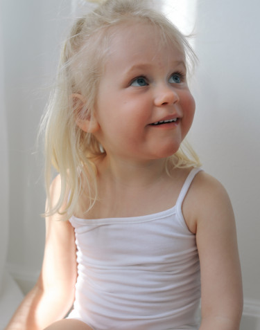 Débardeur pour fille, en coton Blanc