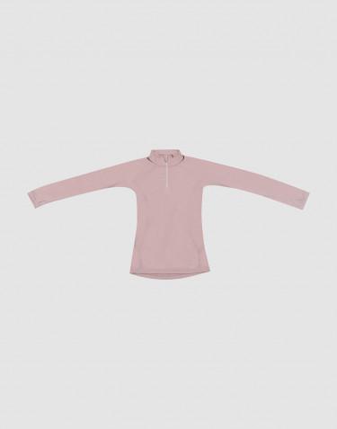 T-shirt à manches longues pour enfant - Laine mérinos exclusive bio Vieux rose