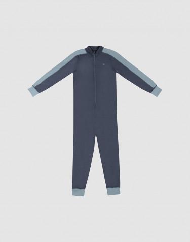 Combinaison pour enfant - laine mérinos exclusive bio Bleu gris