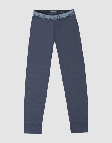 Legging pour enfant - laine mérinos exclusive bio Bleu gris