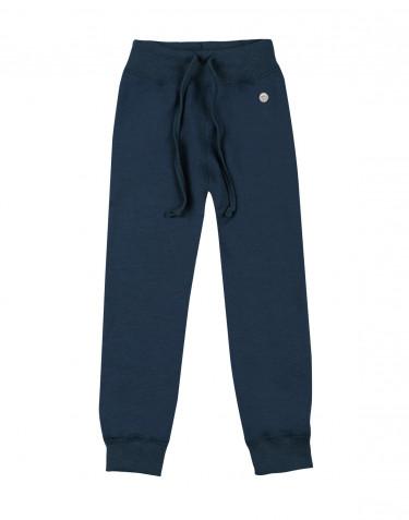 Pantalon pour enfant, en tissu éponge de laine Bleu pétrole